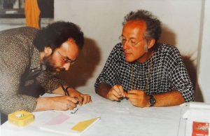 Renato Centonze e il musicista Philip Corner
