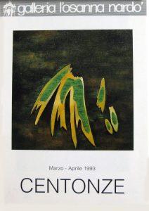 Brochure realizzata in occasione della mostradi Renato Centonze alla Galleria L'Osanna di Nardò (Lecce) marzo - aprile 1993