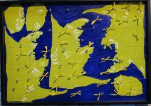 Renato Centonze, Il…tras…correre del giallo, 2006/2008 AUTO-GEO-GRAFIE 2 movimento Pitto-scultura-sonora