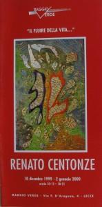 brochure mostra all'associazione Raggio Verde, Il fluire della vita, 18 dicembre 1998 - 2 gennaio 1999