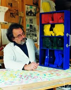Valigia dei Suoni verticali | pitto-sculture e installazioni (2000/2002)